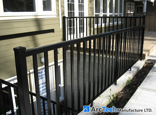Aluminum railing fences